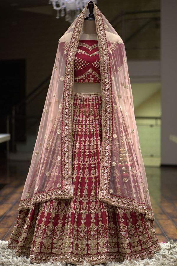 33beb276bf A Maroon Zardosi Embroidered Raw Silk Bridal Lehenga-VL3065 - Midas Bridal # lehengas #lehengacholi #bridalwear #lehenga #designer #indianfashion ...