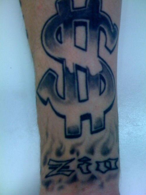 tattoos money sign money sign