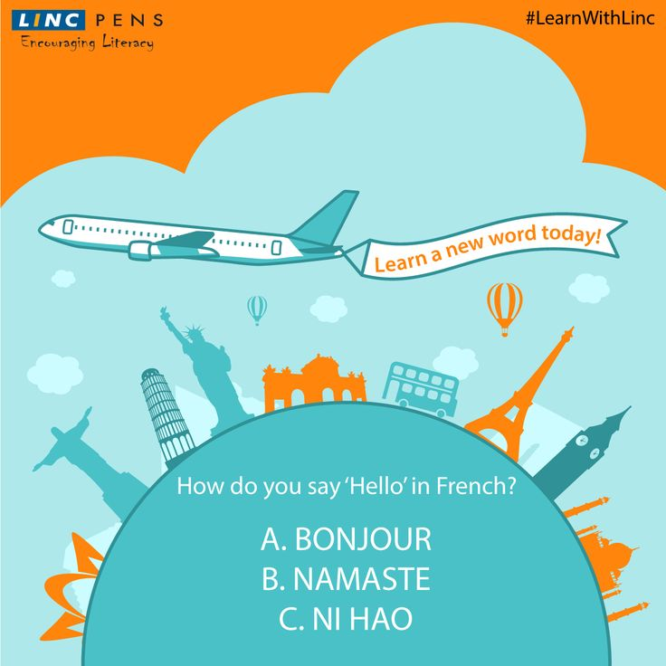 French, German, Spanish, Chinese..Learn a new language word with Linc every week #LearnWithLinc #AroundTheWorld