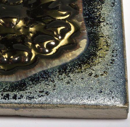 Handmade ceramic decor tile - Small Rosette