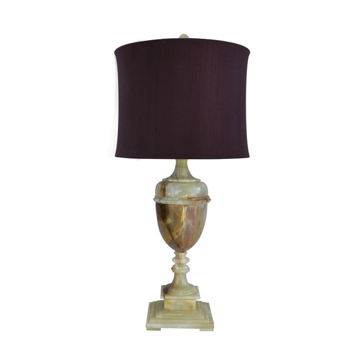 """Rembrandt Home 32"""" Tall Table Lamp """"Sabrina"""" with Chartreuse finish, Burgundy Linen Shade"""