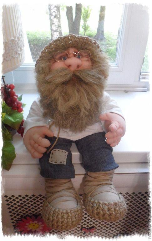 Купить Домовой - белый, домовой, оберег, каркасная кукла, интерьерная кукла, подарок на любой случай