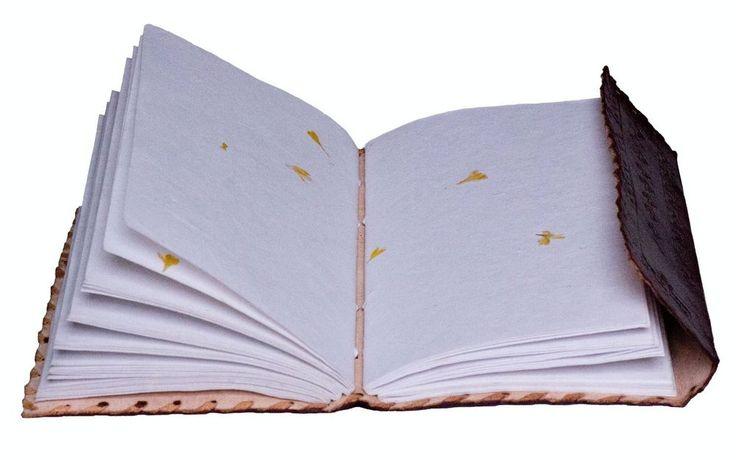 HANDMADE - VINTAGE GENUINE LEATHER BLANK JOURNAL - Travel Diary Sketchbook Lock