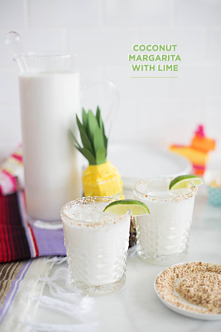 coconut margarita with lime #savecinco #theeverygirl