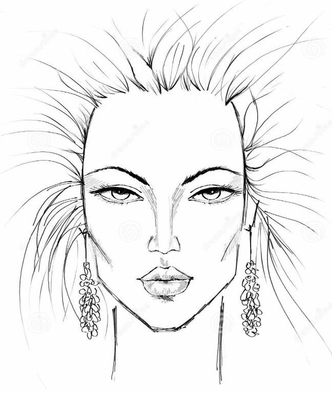 fashion croquis faces wwwpixsharkcom images