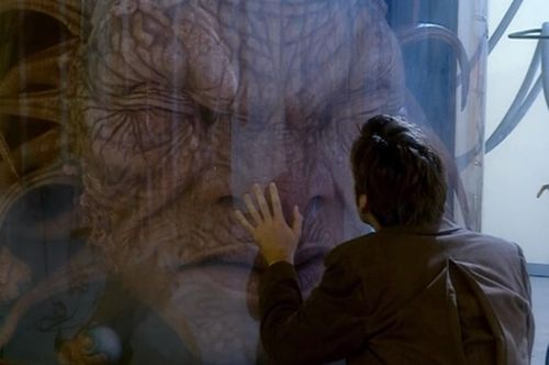 """Hame: """"He's the only one left. Legend says that the Face of Boe has watched the universe grow old. There's all sorts of superstitions around him. One story says that just before his death, the Face of Boe will impart his great secret, that he will speak those words only to one like himself."""" The Doctor: """"What does that mean?"""" Hame: """"It's just a story."""" The Doctor: """"Tell me the rest."""" Hame: """"It's said he'll talk to a wanderer. To the man without a home. The lonely God."""" S2E1: New Earth"""