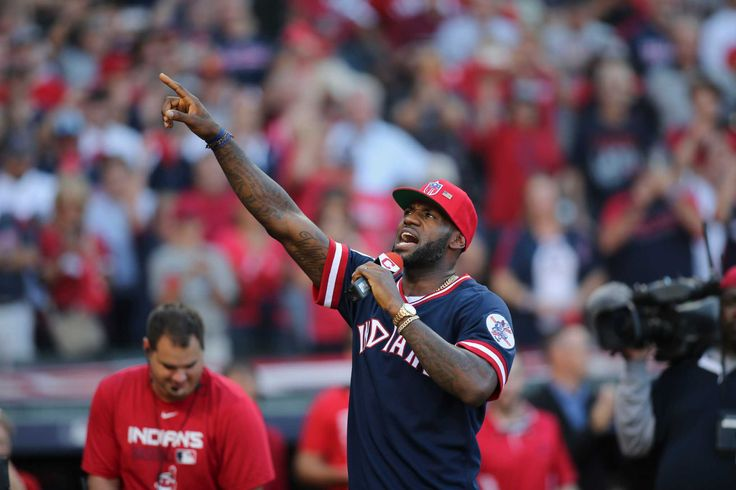 LeBron James offers support to Indians before Game 2