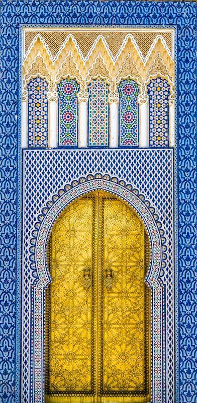 Porta em Casablanca, Marrocos.