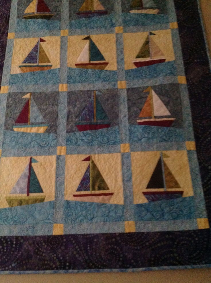 208 Best Sailboat Quilts Images On Pinterest Nautical