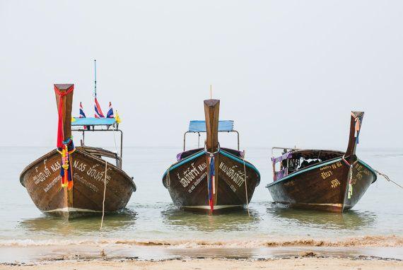 3 Thai Boats photography print