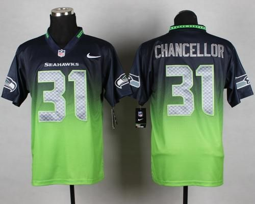 Nike Seattle Seahawks 31 Kam Chancellor Steel Blue Team Color Mens ...