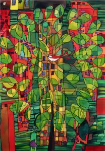 hundertwasser tree - we have a print of this that makes me happy