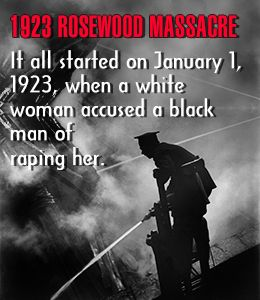 Racial issues and violence in the rosewood massacre in the united states