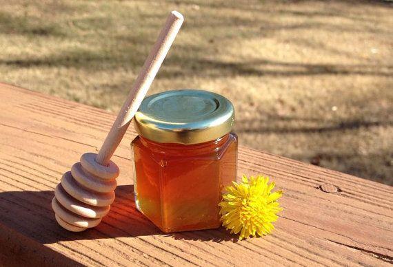Faveurs de pots de miel 1 Qté Mini couvercle or par OccasionFavors