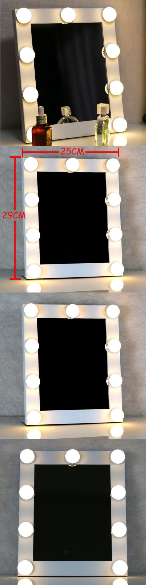 Makeup Mirrors: New White Vanity Lighted Hollywood Makeup Mirror With Dimmer Stage Beauty Mirror BUY IT NOW ONLY: $79.0