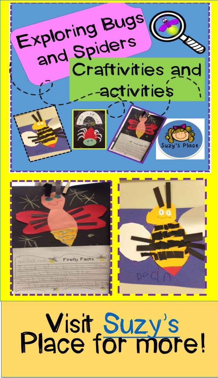 """The children will learn facts about the bee, firefly and spider using Eric Carle""""s timeless stories. Included are: •suggested lesson plan for the bee, bee fact sheet, bee craft templates, bee compare/contrast interactive venn diagram, bee life cycle craft, bee ten frame math sheet. •spider craft templates, story retelling activity  •firefly craft templates, firefly fact sheet and website suggestion, firefly fact writing activity My TPT Store  Total Pages 34 Answer Key N/A Teaching Duration N/A R"""