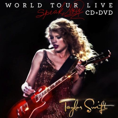 """Live CD/DVD of the Speak Now World tour featuring 16 live recordings and more than 2 hours of concert footage. CD: 1. """"Sparks Fly"""" 5:39 2. """"Mine"""" 4:19 3. """"The Story of Us"""" 4:49 4. """"Mean"""" 4:09 5. """"Ours"""