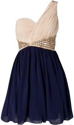 .: Fashion, One Shoulder Dresses, Style, Cute Dresses, Bridesmaid Dresses, Navy Blue