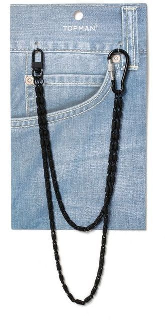 Topman Black Rubber Wallet Chain*