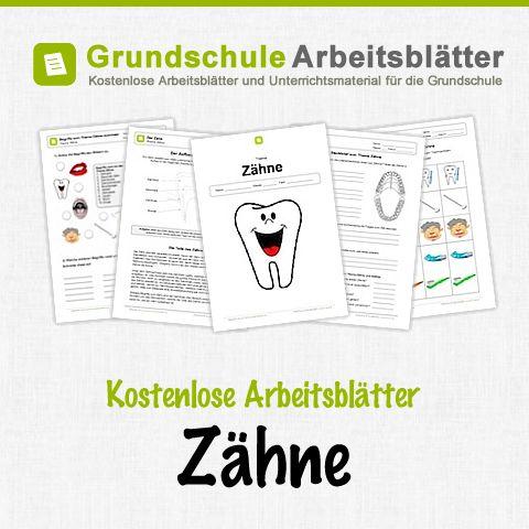 Kostenlose Arbeitsblätter und Unterrichtsmaterial für den Sachunterricht zum Thema Zähne in der Grundschule.