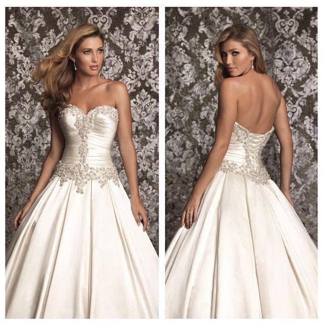Allure Bridals | Ballgown | Bridal gown | Bride | Wedding gown | Satin | Ferrari Formalwear & Bridal