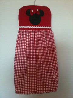 Minnie Mouse Red and White Gingham Diaper Stacker.