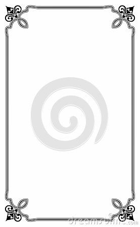 blank template of menu card background with frame a cute and fancy