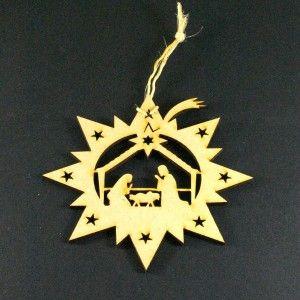 Aplique grabado y cortado en MDF, ideal para decoración Navideña o como bombillo para el árbol.