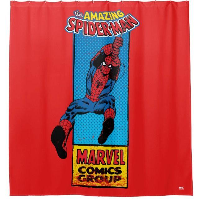 Create Your Own Shower Curtain Zazzle Com Spiderman Comic