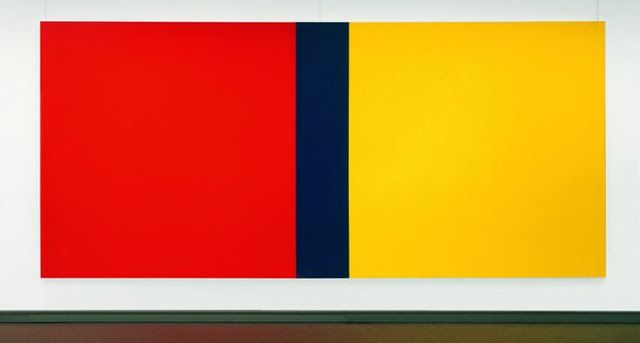 Who's Afraid of Red, Yellow and Blue III by Barnett Newman