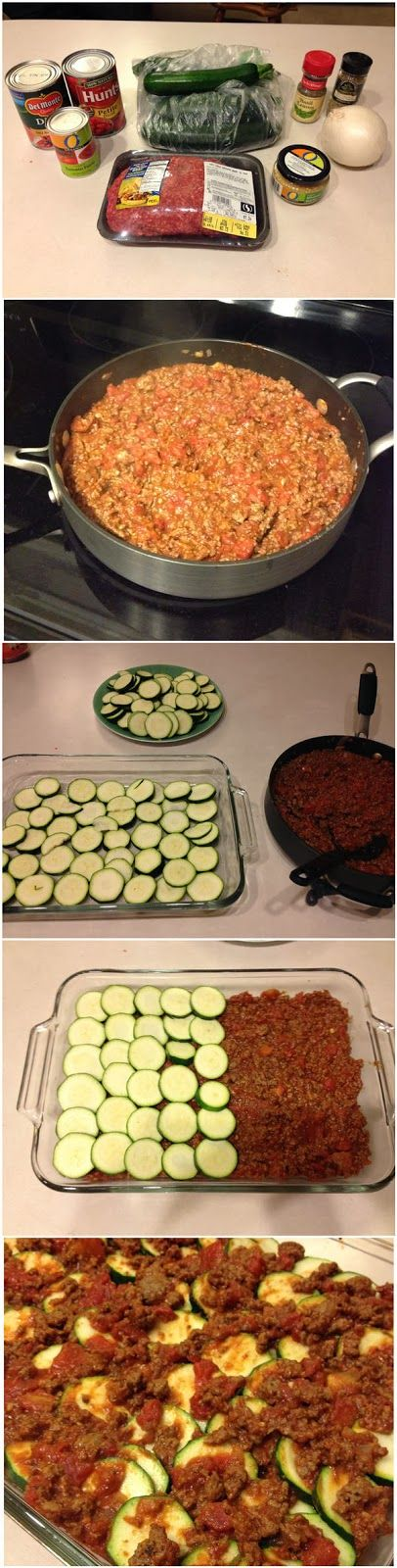 Zucchini Lasagna - Can make and freeze it. Make Lasagna but sub zucchini for noodles and use mozzarella cheese only on the top