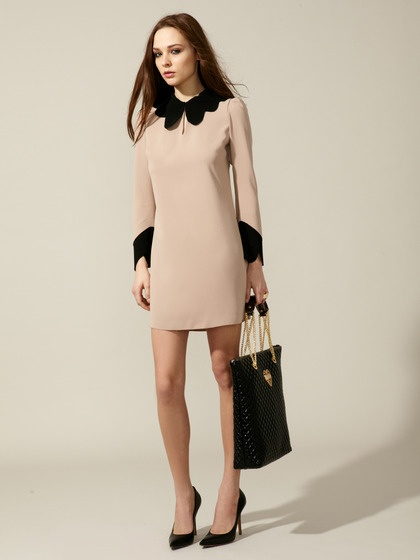 Just Cavalli - Woven Contrast Shift Dress  (blush/black) - with a pair of black slacks