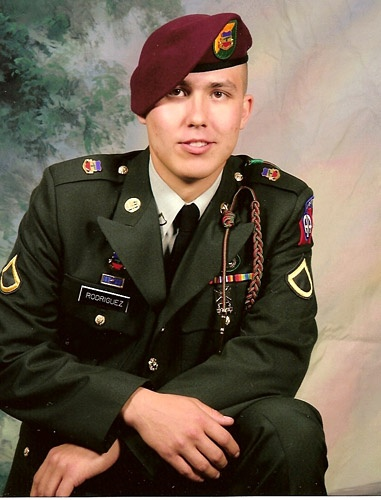Army Spc. Michael J. Rodriguez  Died April 23, 2007 Serving During Operation Iraqi Freedom  20, of Sanford, N.C.; assigned to the 5th Squadron, 73rd Cavalry Regiment, 3rd Brigade Combat Team, 82nd Airborne Division, Fort Bragg, N.C.; died April 23 in Sadah, Iraq, of wounds suffered when an improvised explosive device detonated near his location.