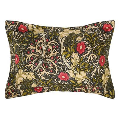 Morris & Co Multicoloured 300 thread count floral 'Morris Seaweed' Oxford pillow case | Debenhams