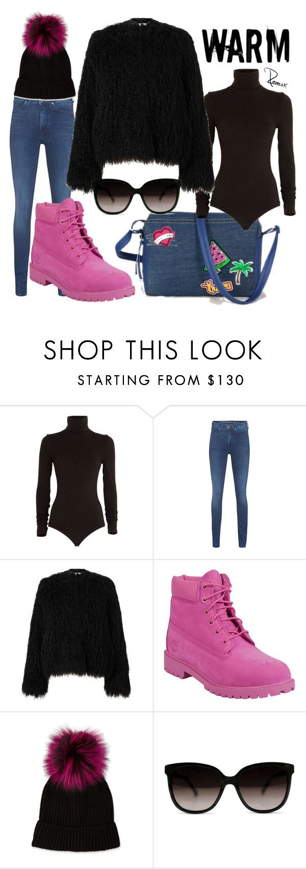 """Winter fun"" by aleva on Polyvore featuring Wolford, Calvin Klein Jeans, Samsøe & Samsøe, Timberland and Neiman Marcus"
