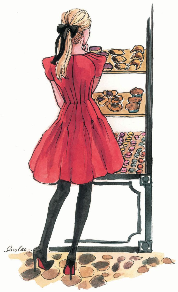 Little Red, Insl Haynes, Bakeries, Red Shoes, Fashion Illustration, Sketches, Illustration Art, Preppy Fashion, The Dresses