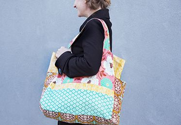 Sewing a Tote Bag with Joel and Laurie Dewberry. Made with True Colors fabrics from the @FreeSpirit Fabric line.