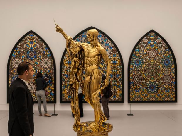 censored-hirst.jpg Damien Hirst's 'Saint Bartholomew, Exquisite Pain' has been altered to appease more conservative audiences Getty Images