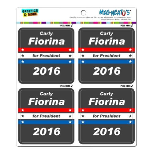 Carly Fiorina Republican for President 2016 MAG-Neato's(TM) Vinyl Magnet Set