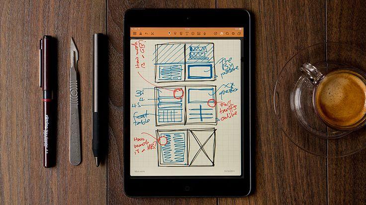 10 best iPad apps for pro designers—Procreate; Noteshelf; Adobe Comp CC; Things for iPad; OmniPlan 2; Status Board; Slack; Duet Display; Invoice2go; Digital Magazines; Details>