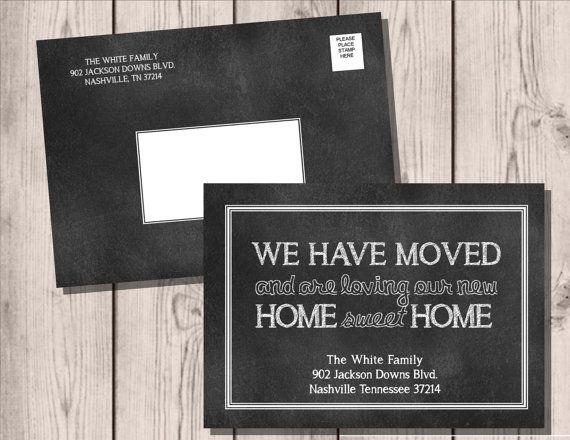 Best 25+ Change of address cards ideas on Pinterest We ve moved - free change of address form online