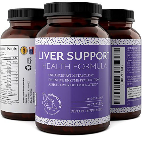 Liver Detox And Cleanse - Hangover Cure - Contains Milk Thistle   Dandelion   Artichoke   Yarrow   Jujube   Chanca Piedra - Liver Support Supplements For Men And Women By Natural Vore * Details can be found by clicking on the image.