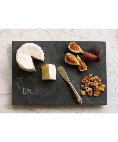impress your guests serve snacks on slate - Slate Cafe Ideas