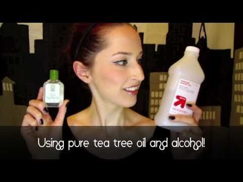 Make your own makeup brush cleaner with tea tree oil! -- GorgeoisPig    Organic spot makeup brush cleansing recipe    http://www.youtube.com/watch?v=TXhdVd5uHKI#