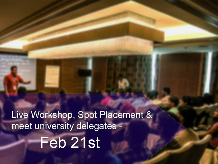 Spot placements, internship opportunities & more this Feb. Date: FEB 21st Time: 9am – 5pm Venue: La Marvella Sarovar Premiere, 14th Cross ,South-End Circle, 2nd Block ,Jayanagar, Bengaluru, Karnataka #Events #Fair #EducationFair #Study #InternationalStudy #UniversityDelegates #PaidInterships #Scholarships #Jobs #OfferLetters #StudentMetro #ISEF ##StudyMetroPvtLtd #InternationalStudyEducationFair #CityShorBangalore