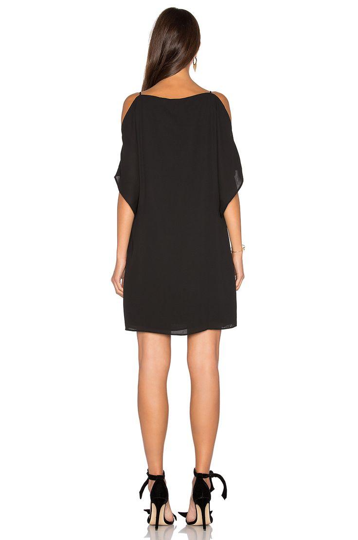 krisa Split Sleeve Slip Dress en Negro | REVOLVE