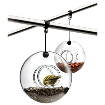Eva Solo bird feeder. Absolutely gorgeous.  I have one and the small birds adore it.