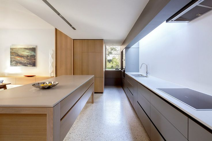 Laurel House - Neil Architecture  1. Concrete floor colour  2. Kitchen colours
