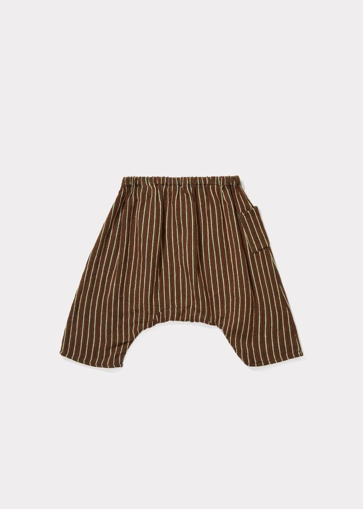 Crawley Baby Trouser, Forest Green Stripe