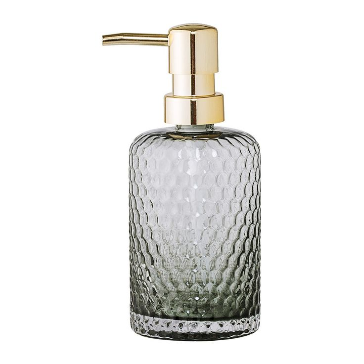 Designstuff offers a wide range of Scandinavian bathroom accessories including this beautiful smoked glass and brass soap dispenser by Bloomingville, Denmark.